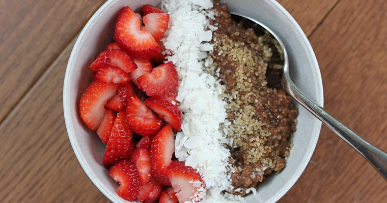 Leah Cooks Brown Butter Chocolate Oatmeal from NYT Cooking
