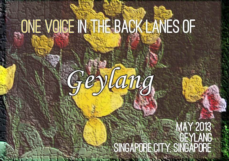 One Voice in the back lanes of Geylang