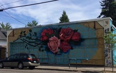 Portland, flowers, street art