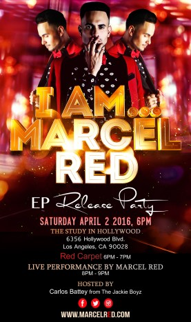 Marcell Red Party Release Flyer