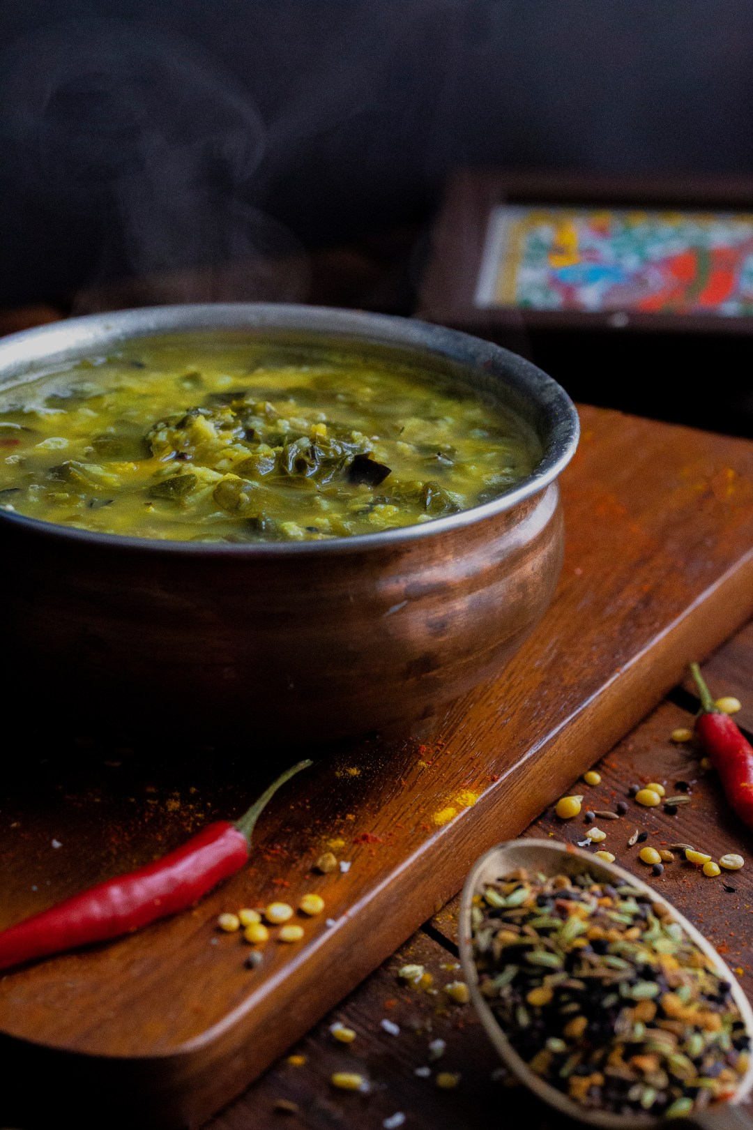 Moringa Leaves with Split Yellow Moong Daal by OneWholesomeMeal