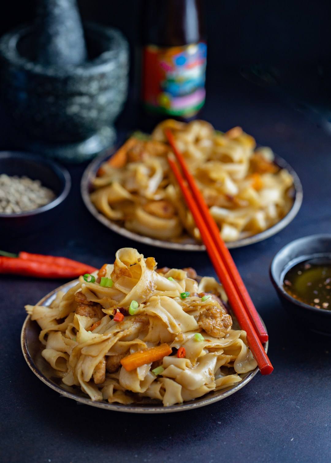 Thai Stir Fry Noodles by OneWholesomeMeal