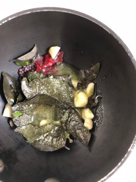 Dahi Baingan recipe preparation by OneWholesomeMeal