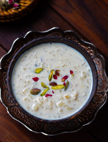 Rice Kheer with Jaggery photography by OneWholesomeMeal