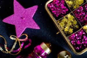 Magenta and Gold Themed Diwali decor