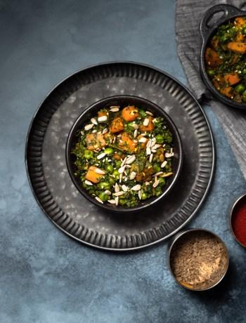 Carrot Greens Stir Fry