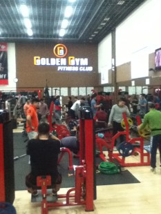 Full house at the Golden Gym
