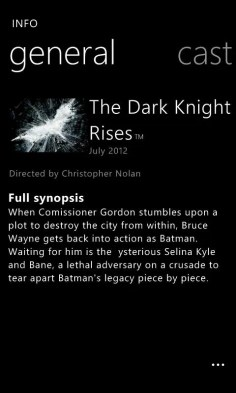 The Dark Knight Rises aplicación oficial en exclusiva para los Nokia Lumia