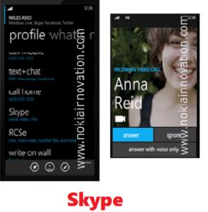 WP8 shots - Skype