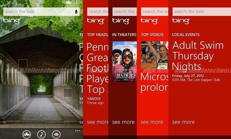 Windows Phone 8, Bing nuevas características