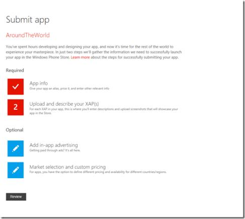 Submit App to Windows Phone Dev Center