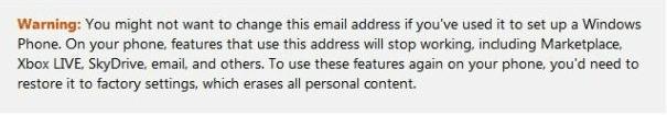 Aviso de Microsoft para usuarios WP