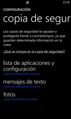Copia Seguridad WP8