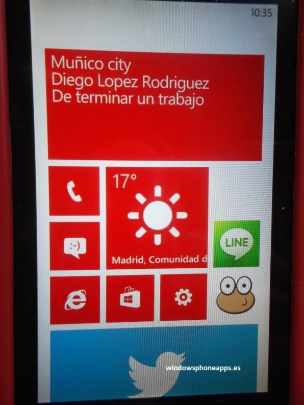 WhatsApp doble tile