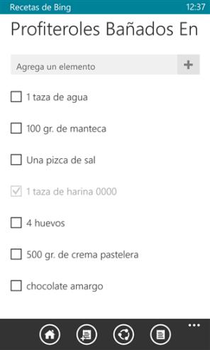 Recetas de Bing Beta 2