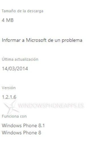 Compatibilidad Windows Phone 8.1
