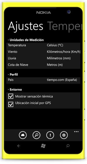 El Tiempo para Windows Phone