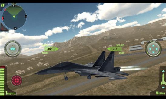 Avión sobrevolando tierra