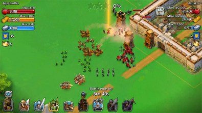 Batalla en Age of Empires: Castle Siege