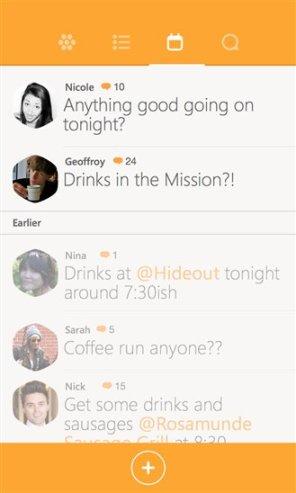 Información sobre tus amigos en Swarm para Windows Phone