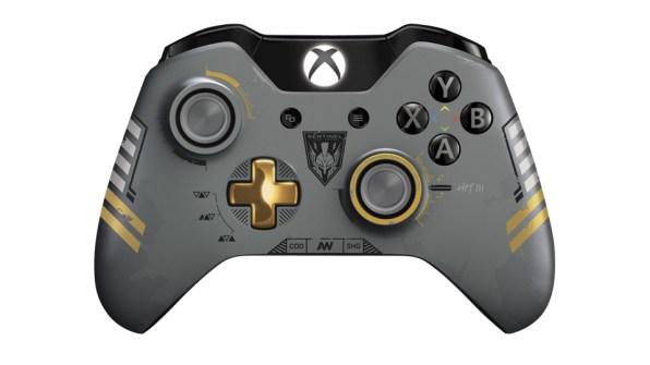 Mando personalizado con iconografía de Call of Duty: Advanced Warfare