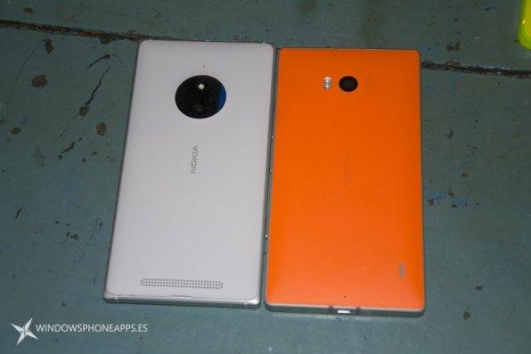 Lumia 830 vs Lumia 930 trasera