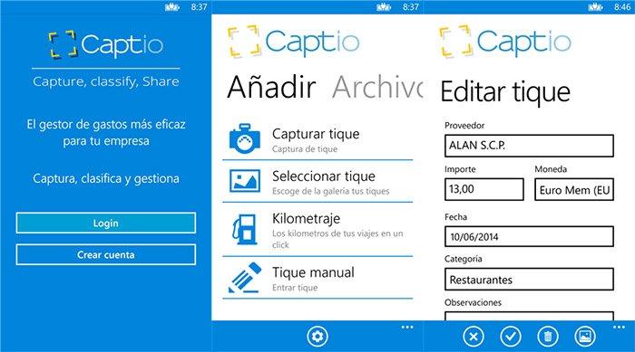 captio para Windows Phone- capturas