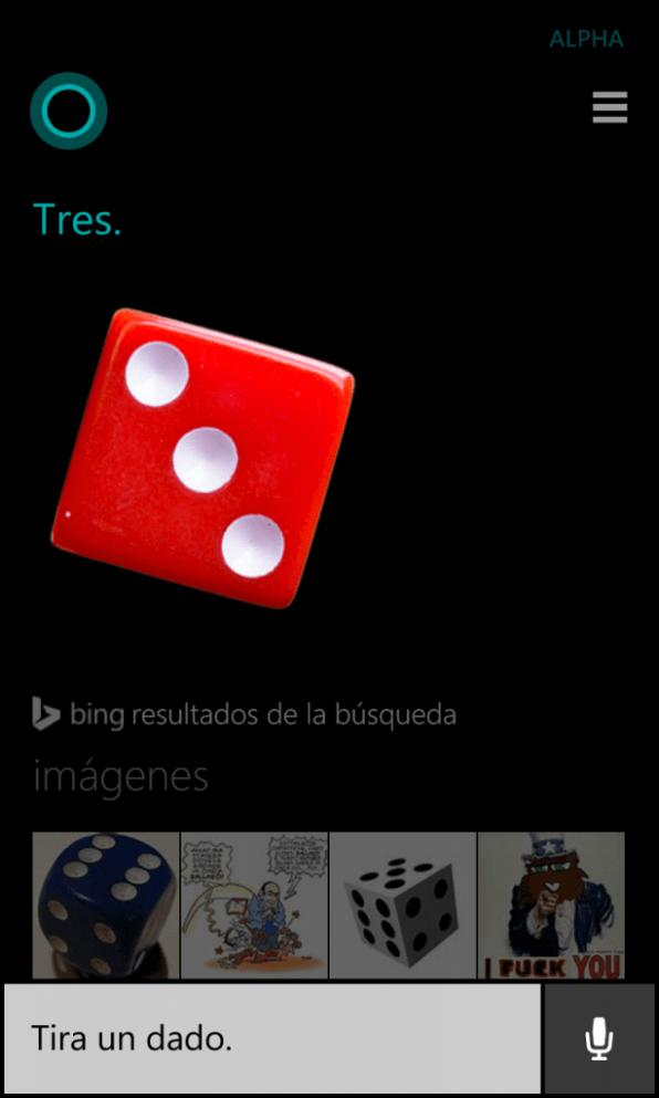 Cortana dados