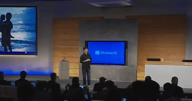 Windows 10 Evento