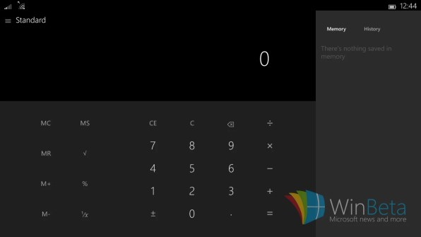 Calculadora windows 10 tablet