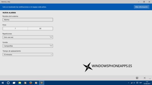 alarma windows 10 10049 2