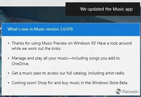 Windows 10 10108 actualizacion musica