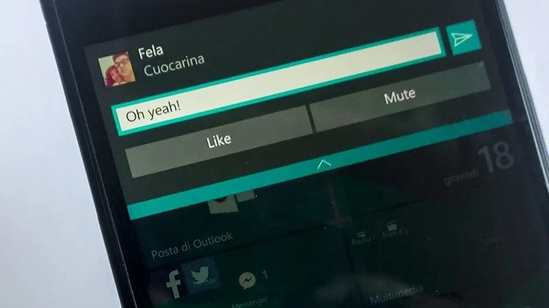 Facebook-Messenger-Windows-10-Mobile notificaciones interactiva