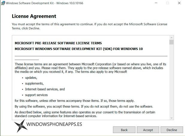 sdk windows 10 build 10166
