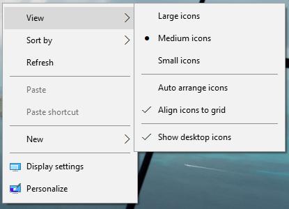 Cambios en el menú contextual de Windows 10