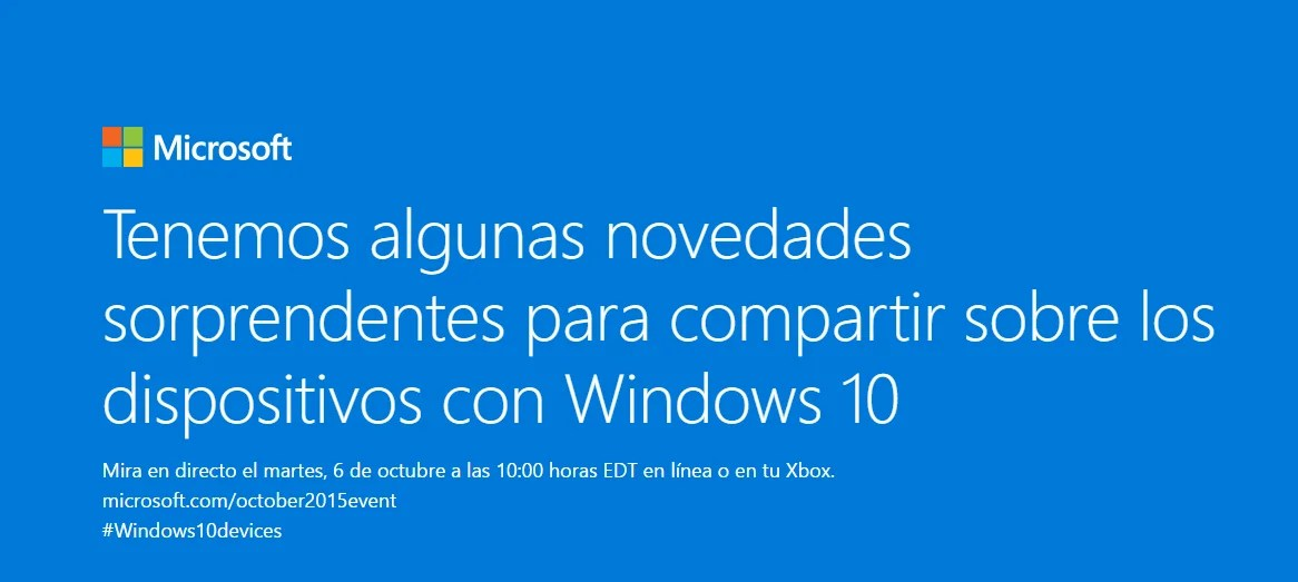 Evento Windows 10