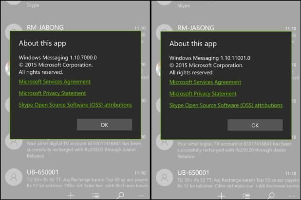 Mensajes de Windows
