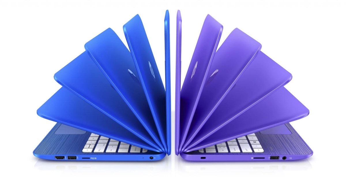 HP Stream_Cobolt Blue and Violet Purple
