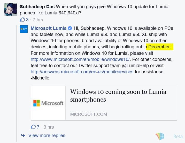 lanzamiento windows 10 mobile