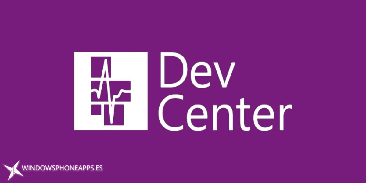 Centro de desarrollo de Windows, aplicación Dev Center