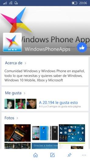 Facebook para Windows 10 Mobile (11)