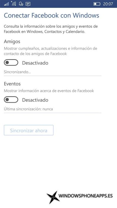 Facebook para Windows 10 Mobile (4)