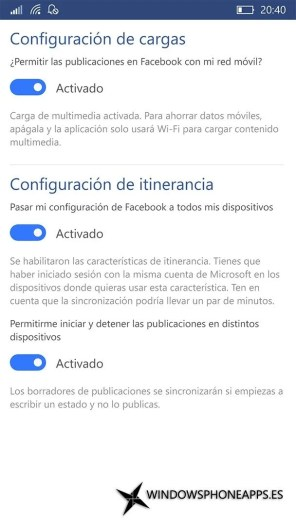 Facebook para Windows 10 Mobile (9)