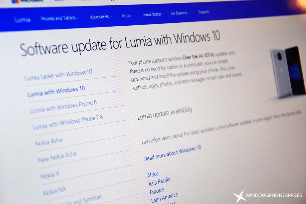 Lumia con Windows 10