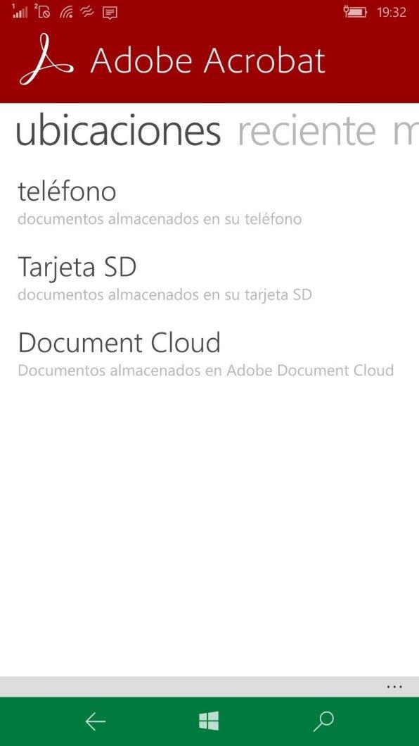 Adobe Acrobat Reader Captura 1