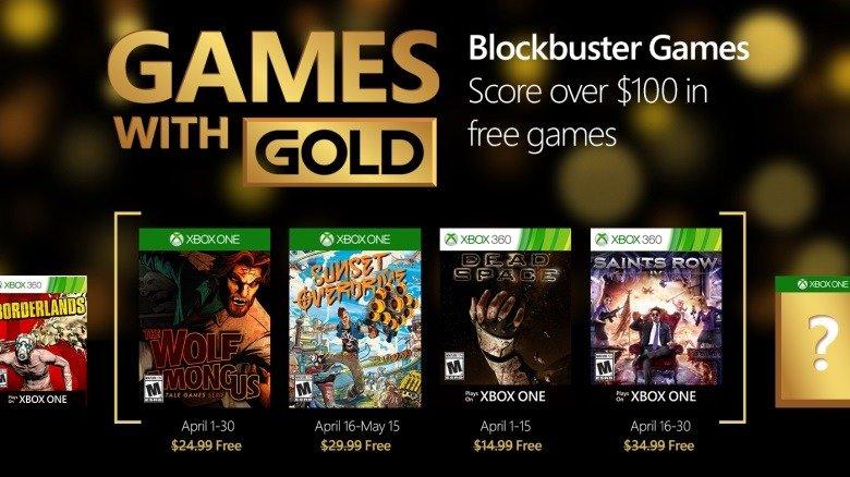 Games With Gold de Abríl
