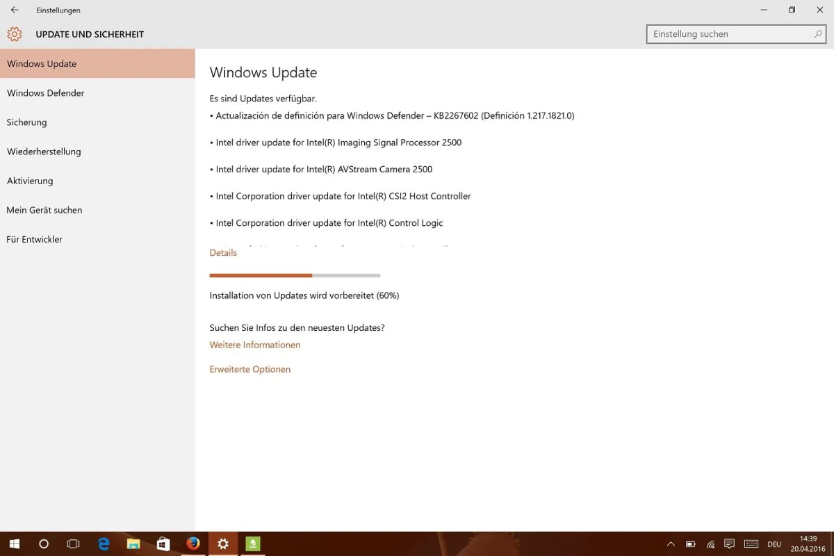 update surface 4