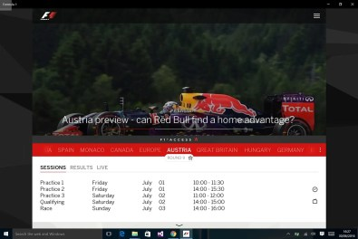 f1 windows
