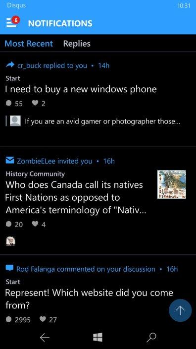 Disqus-Windows-10-Mobile-2