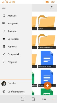 GDrive.NET Windows 10 Mobile 3
